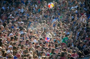 Crowd at The Divide Music Festival